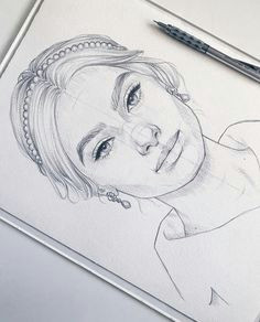 wonderful portrait drawing of a great model