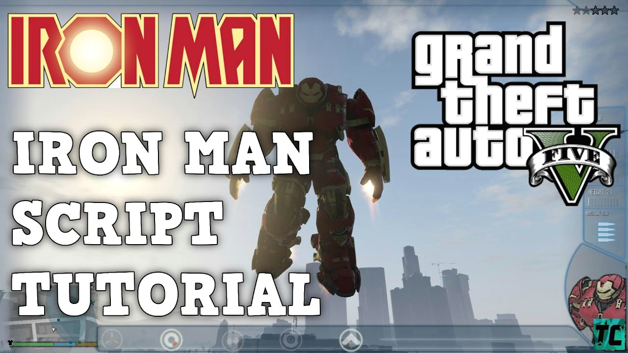 gta 5 how to install iron man script mod pc full tutorial gta 5 pc mods
