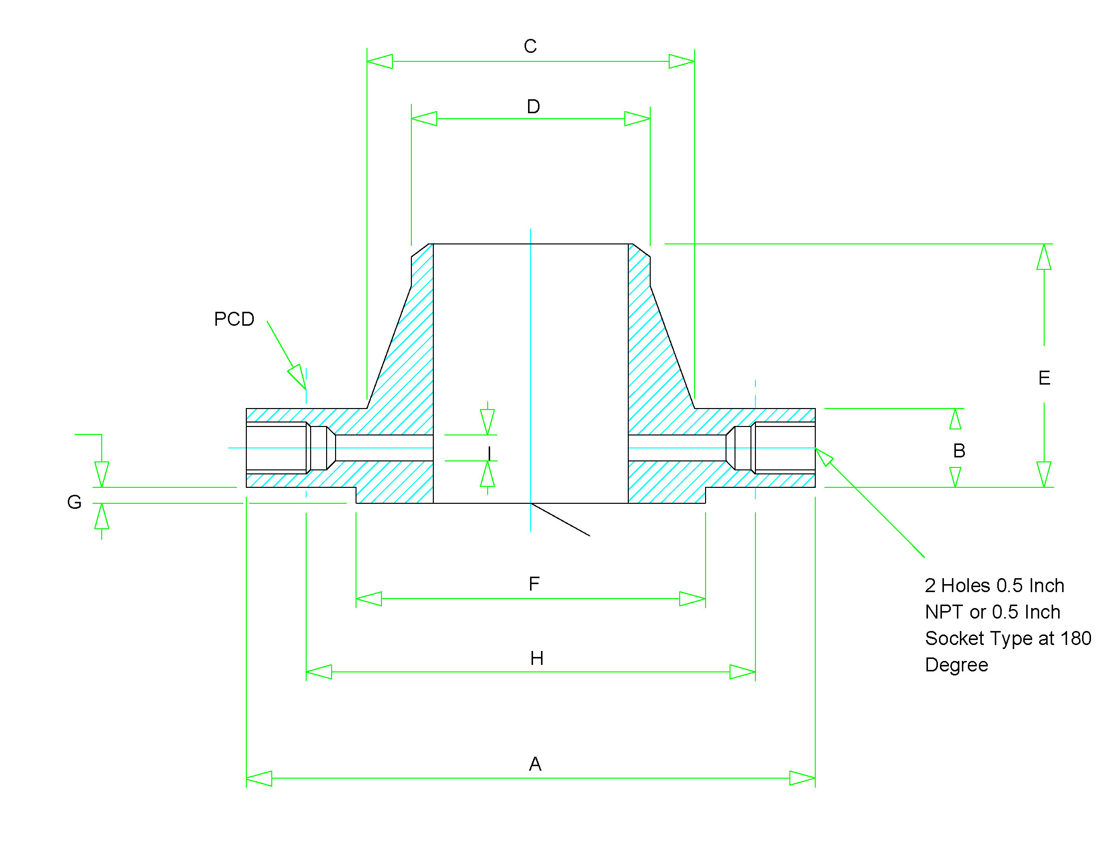 H Size Drawing Dimensions orifice Flange Dimensions Class 300 to Class 2500