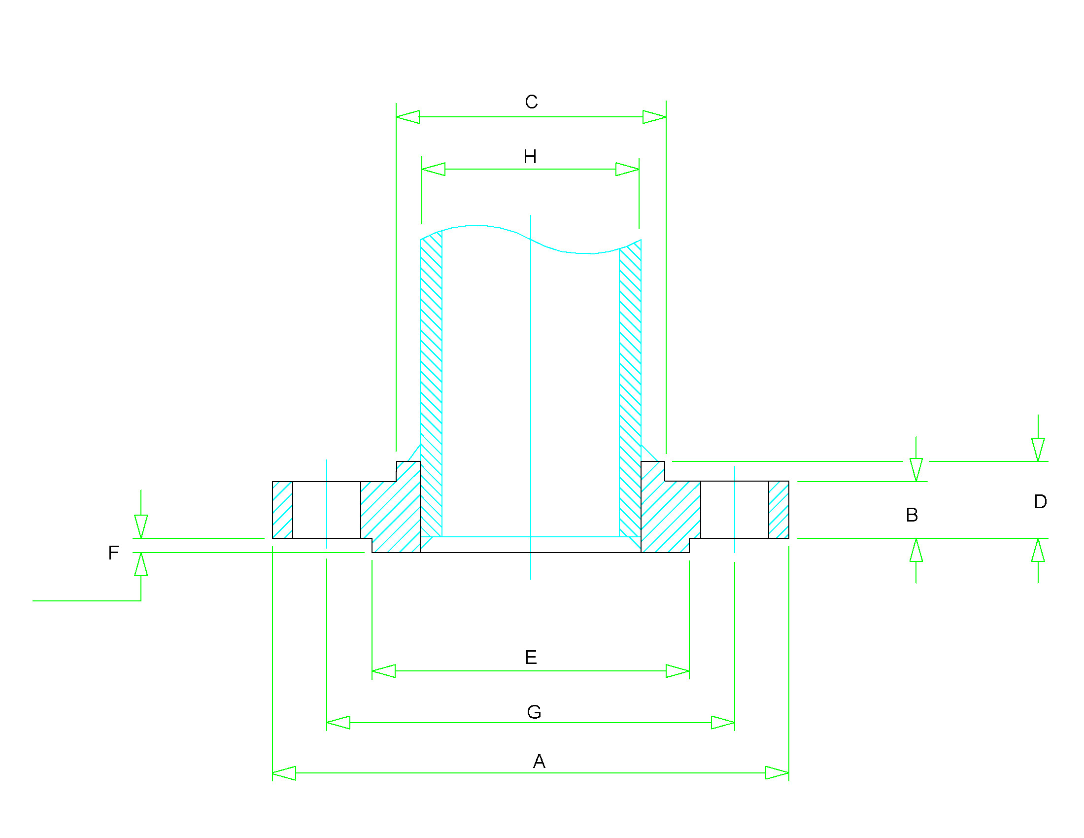 class 150 slip on flange dimensions