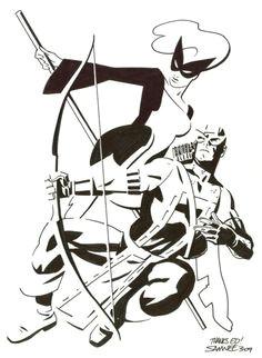 mockingbird hawkeye chris samnee comic book artists comic books art comic art