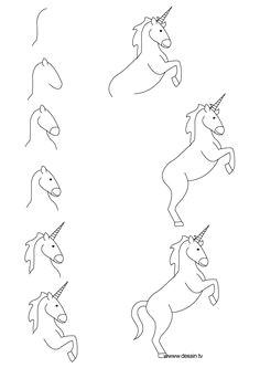 unicorn step by step drawing drawing unicorn