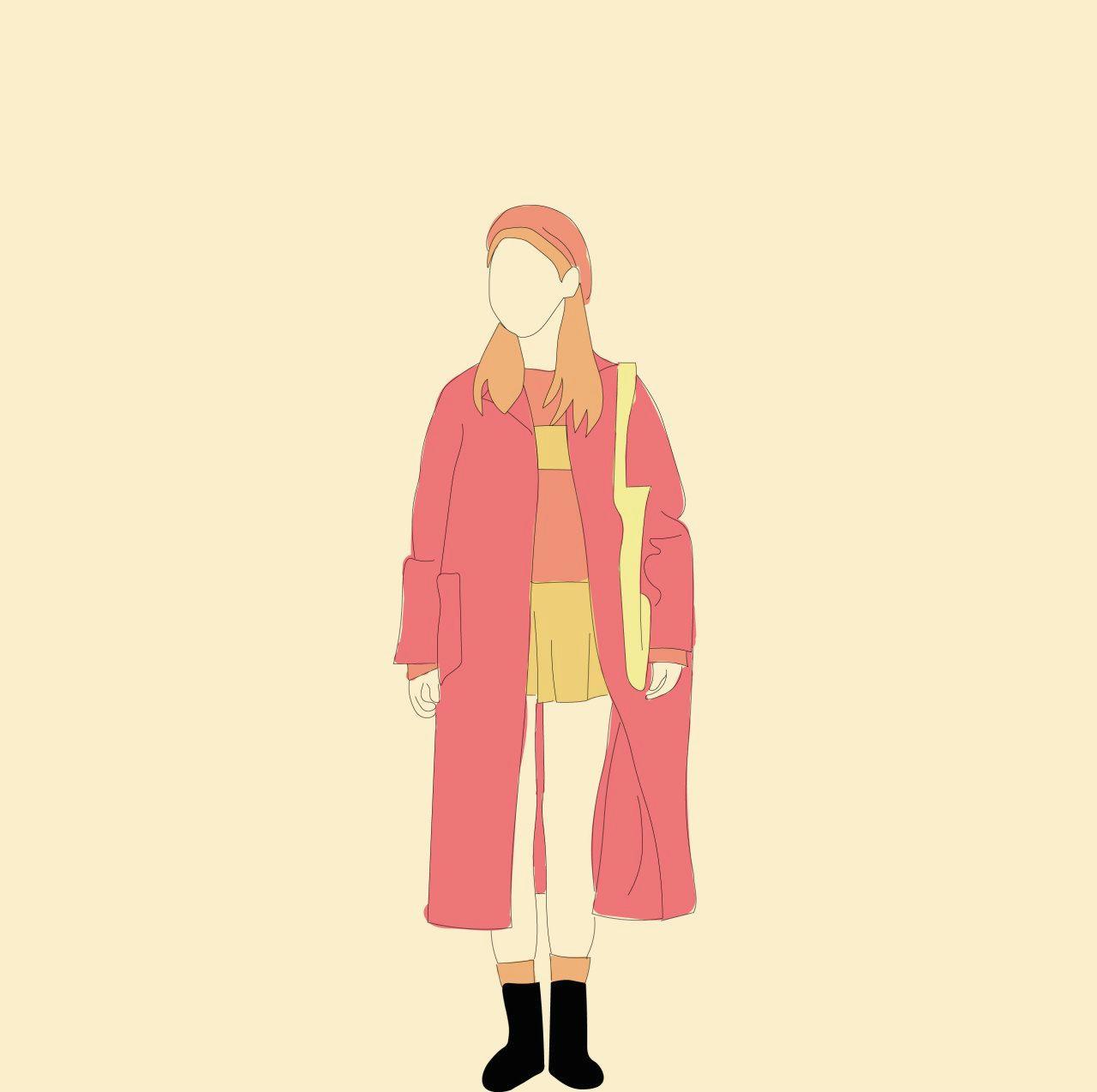 fashion pastel lineart girl korean aesthetic drawing art fanart kpop lol