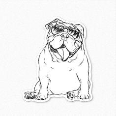 tank english bulldog decal sticker english bulldog by inkopious