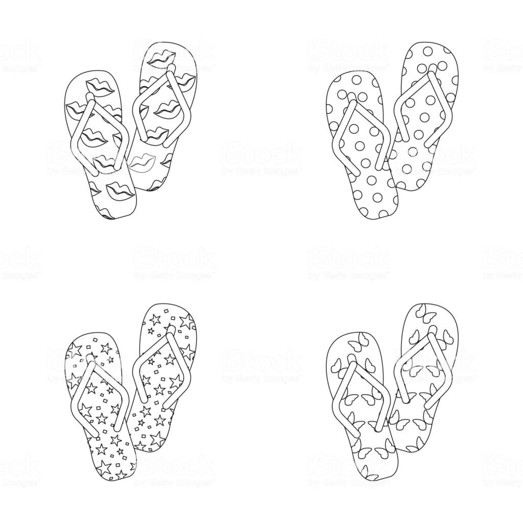 flip flops umreia en symbole im set sammlung fur design badeschuhe vektor symbol lager web