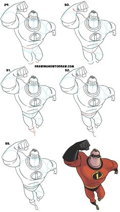 how to draw mr incredible from the incredibles 2 part 1 of drawing the incredibles 2 family easy step by step