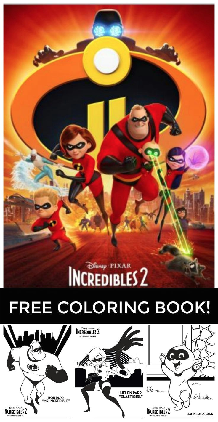 free printable incredibles 2 coloring pages all of these fun incredibles 2 coloring pages are put into an easy to print incredibles printable coloring book