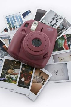 fujifilm mini 8 sofortbildkamera instax in burgunderrot