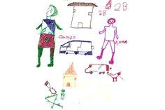photos drawings by child victims of boko haram attacks