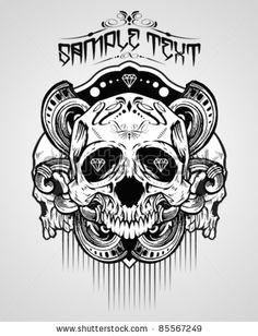 stock vector vector illustration skull t shirt design logos skull art logo