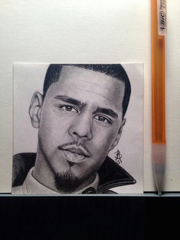 big j cole fan so my last as of now post it drawing is of j cole to see more art follow we on instagram wega13art