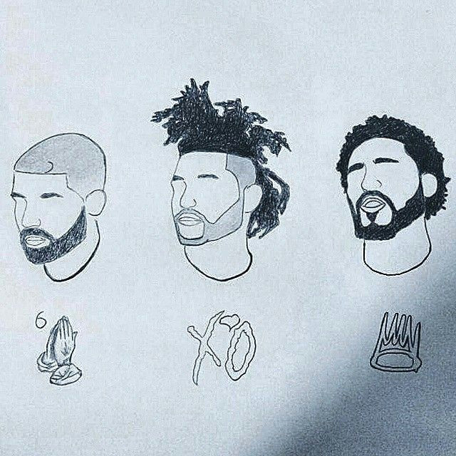 J Cole Drawing Easy Rae Jones On Rap Style Pinterest Drake Art and J Cole
