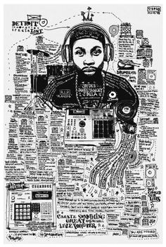 j dilla infographic artwork by joe buckingham www josephbuckingham com musica rap