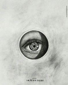 title realistic eye medium charcoal size a4 art by jayesh soni hope u all like it drawing sketchbook eyedrawing realisticdrawing realism art