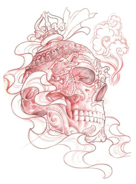 japan tattoo skulls tatting tattoo ideas skull art needle tatting