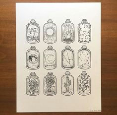 cute drawings quick draw cool art miniature bottles sketchbook ideas sketchbook