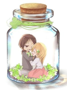 anime chibi kawaii anime anime art ymir bottle art image boards