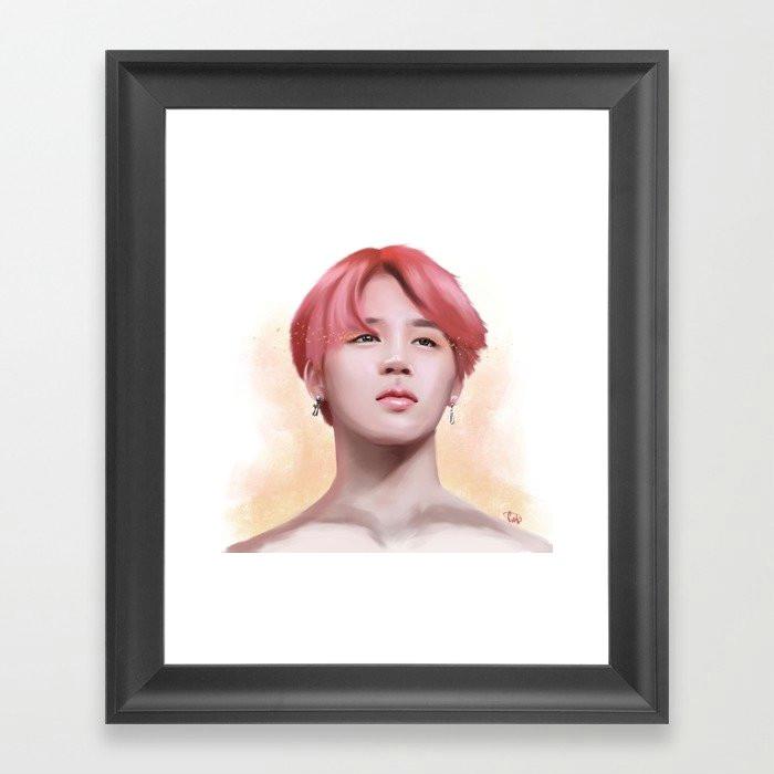 serendipity jimin framed art print