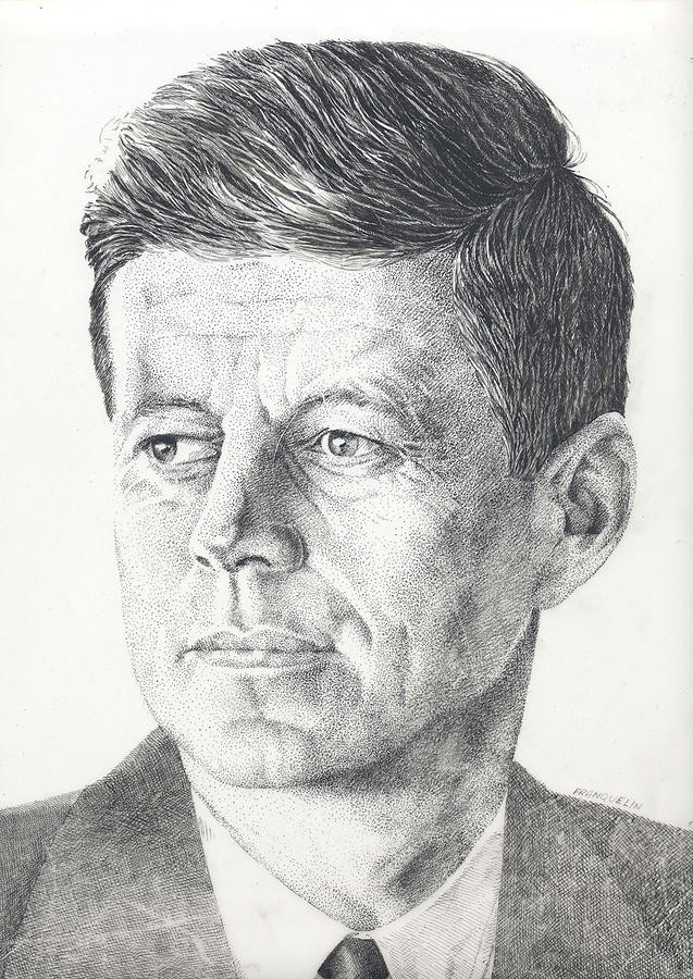 jfk drawing by marcel franquelin