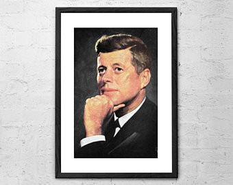john f kennedy painting jfk home decor united states president jfk poster john f kennedy poster john f kennedy print jfk decor