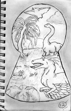 keyhole drawing google search middle school art kunstakademi hobbykunst dinosaur kunst