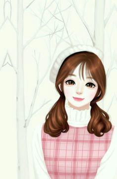 korean anime korean art girl cartoon cartoon art korean illustration girly