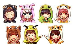 chibi kpop fanart monsta x kpop drawings got7 digital art