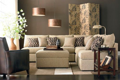 beckham l shaped sectional by bassett furniture contemporary living room designs