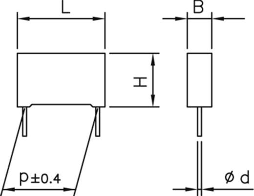 kemet r82ec1470dq50k 1 st polyester kondensator radial bedrahtet 4 7 nf 100 v 10