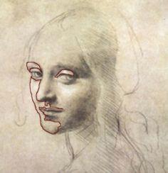 leonardo da vinci paintings leonardo da vinci s drawing do you see tiny negative spaces