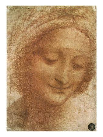 sketch of saint anne 1500 giclee print 12 x 16