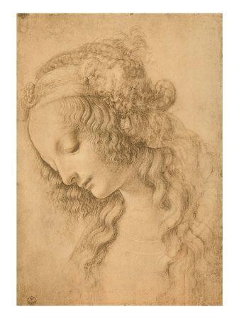 women and men in renaissance art the face of the virgin by leonardo da vinci illustration sketch