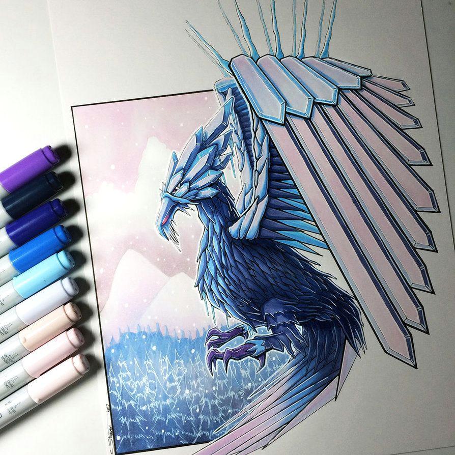 ice phoenix drawing by lethalchris phoenix drawing frozen art ice dragon artist