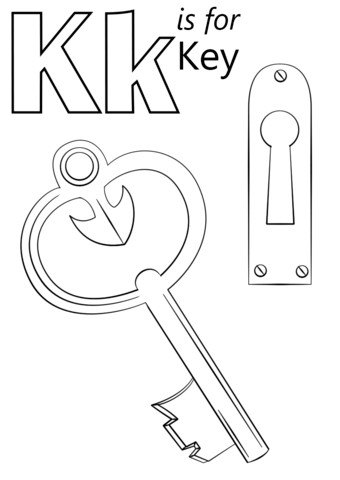 letter k is for key coloring page from letter k category select from 26388 printable crafts of cartoons nature animals bible and many more