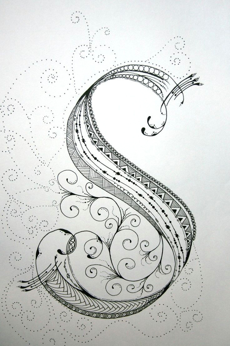 zentangle alphabet drawing on bright white drawing paper with micron ink and gelly roll gel pens 19 99 via etsy zentangle art