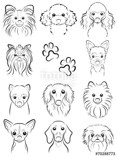 Line Drawing Dog Head Fotolia Comi I E I I I E E I Dog Line Drawing by Keko Ka E
