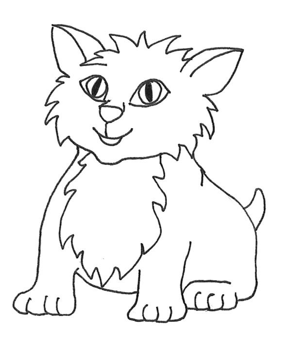 clip art cat drawing clipart 1