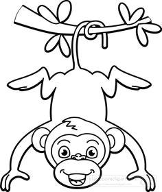 monkey black white clipart black and white drawing black and white pictures black white