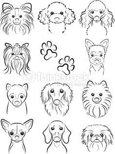 vector art dog line drawing