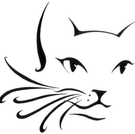 cat outline cheek arm design