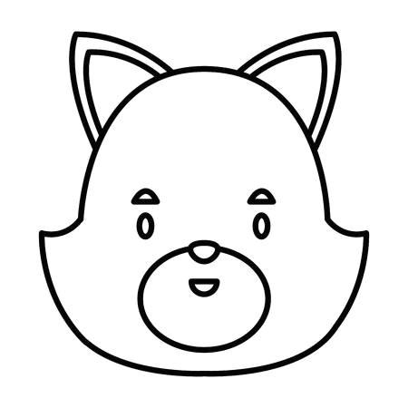 cute cat head cartoon icon vector illustration graphic design stock vector 90831462