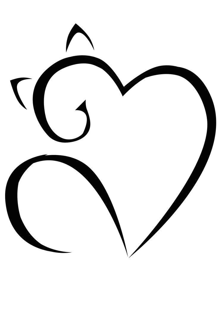 meow tattoo cute cat tattoo cat tattoos cool heart drawings love heart