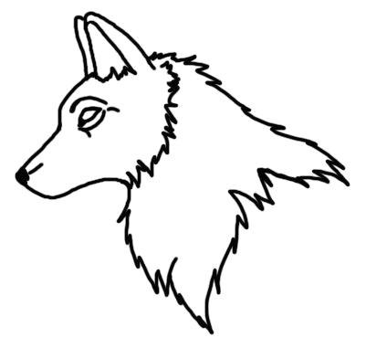 wolfhead outlines by laracoa on deviantart wolf outline clip art sample resume deviantart