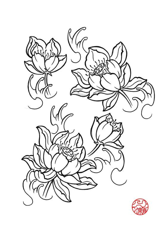 japanese lotus tattoo design creative commons attribution noncommercial no derivative works 3 0