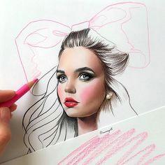 instagram post by natalia vasilyeva feb 11 2016 at 1 01pm utc makeup drawingmakeup