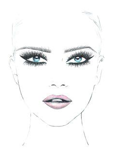Makeup Girl Drawing 73 Best Makeup Sketches Images Makeup Inspo Mac Face Charts Mac