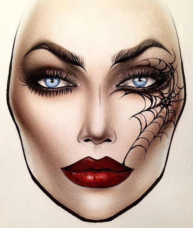 chloalawrence fire makeup makeup face charts mac face charts makeup inspo