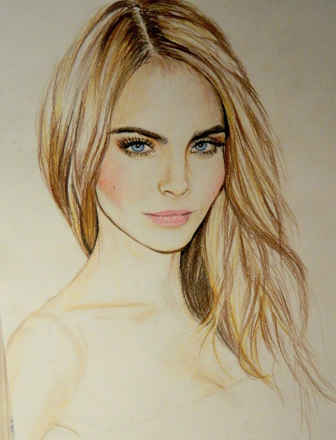 i know it s a drawing but i like the makeup lol