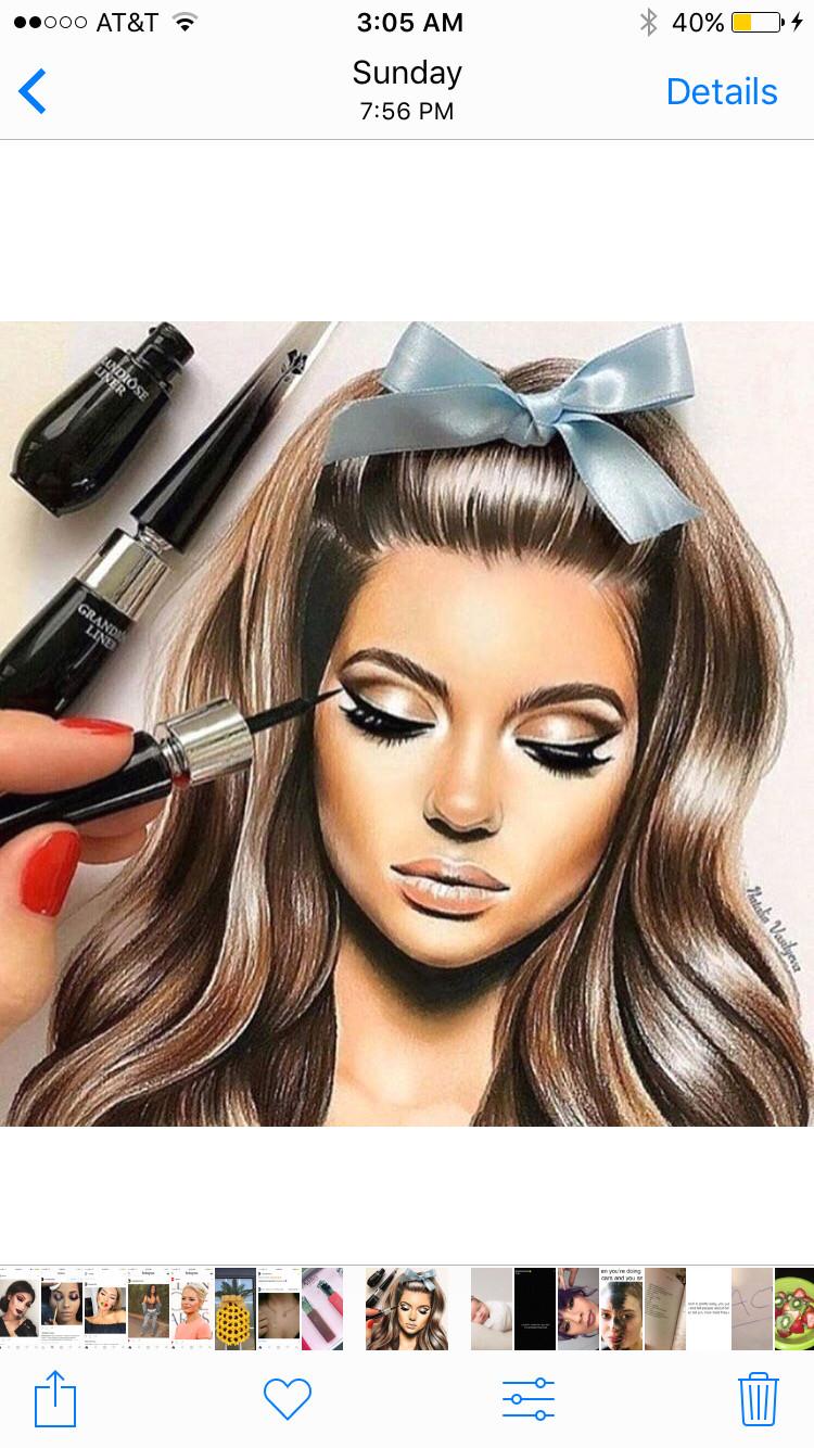 pinterest enchantedinpink makeup drawing drawing art art drawings drawing ideas