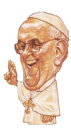papa francisco pope francis caricatures santos st francis celebrity caricatures saints satirical illustrations